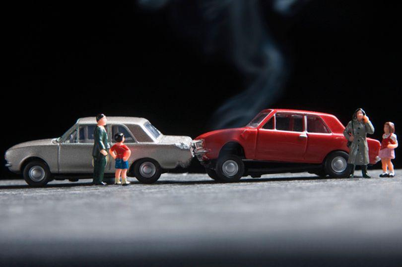 car insurance crash scene models