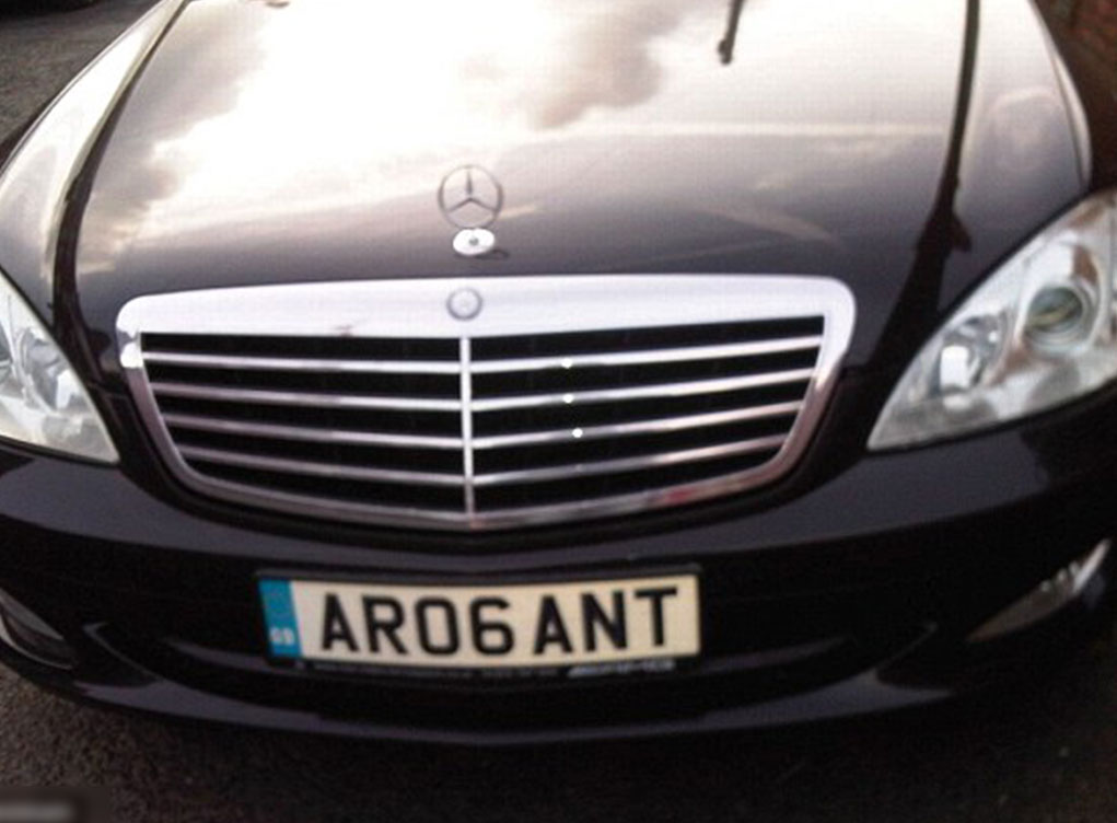 AR06ANT number plate