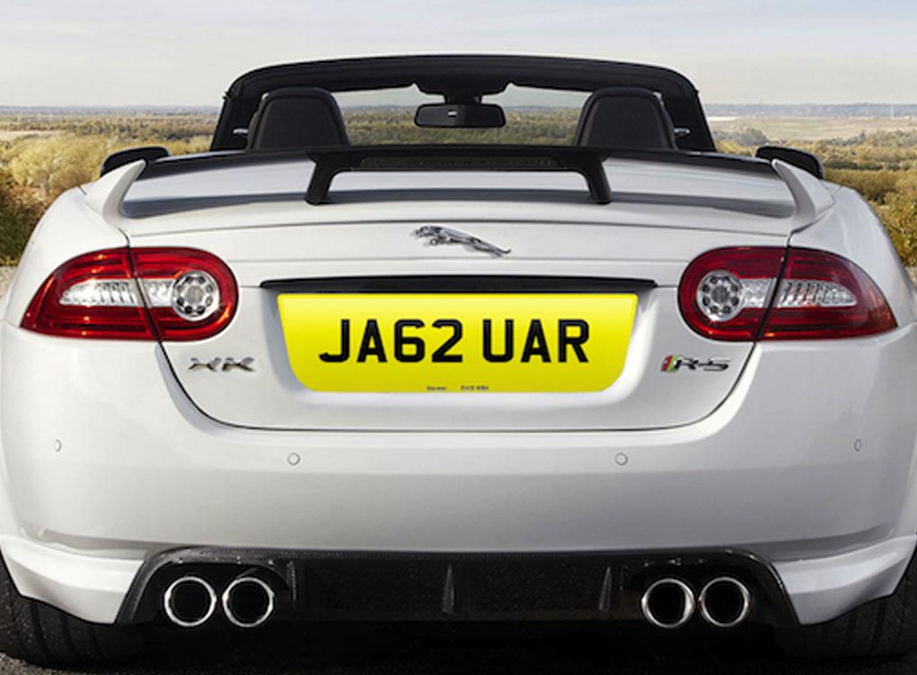 JA62UAR number plate